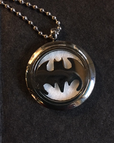 Aromatherapy Batman Necklace