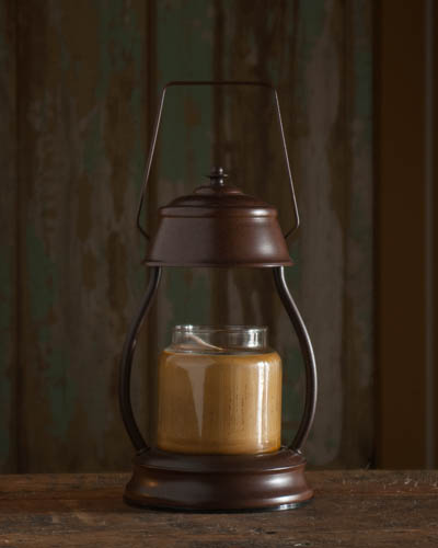 Hurricane Lantern-Rustic Brown