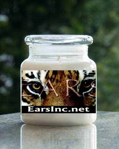 Candy Cane <br /> 16 oz. EarsInc.net  Jar