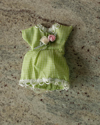 Green Gingham Dress Sachets