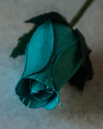 Blue Wooden Rose