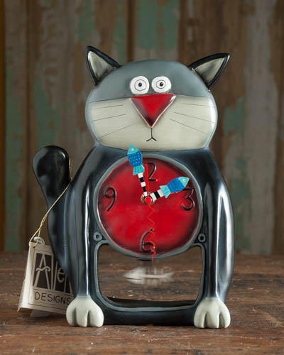 Sitting Black Kitty <br /> Allen Design Clock