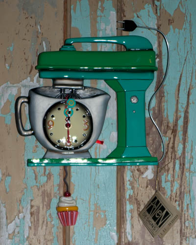 Vintage Mixer Green <br /> Allen Design Clock