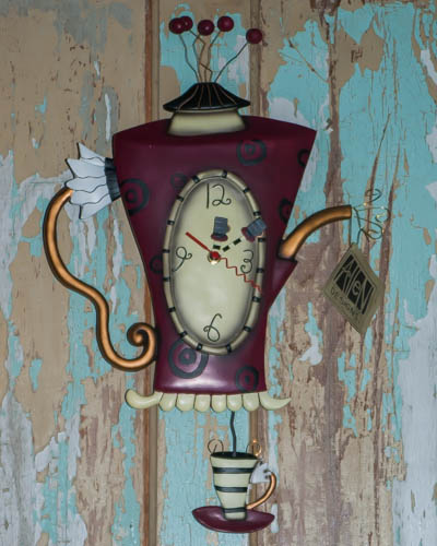 Steamin' Tea <br /> Allen Design Clock