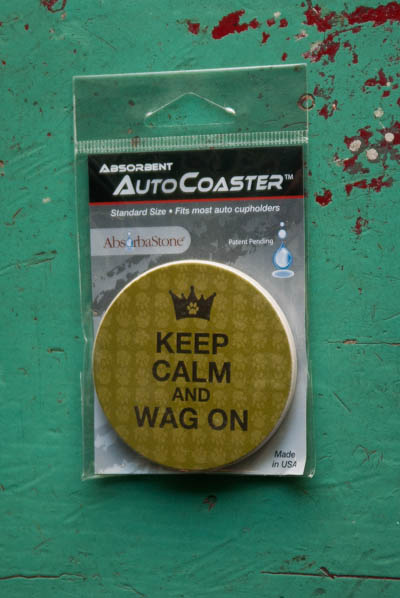 &quot;Keep Calm...&quot; <br /> Car Cup Coaster