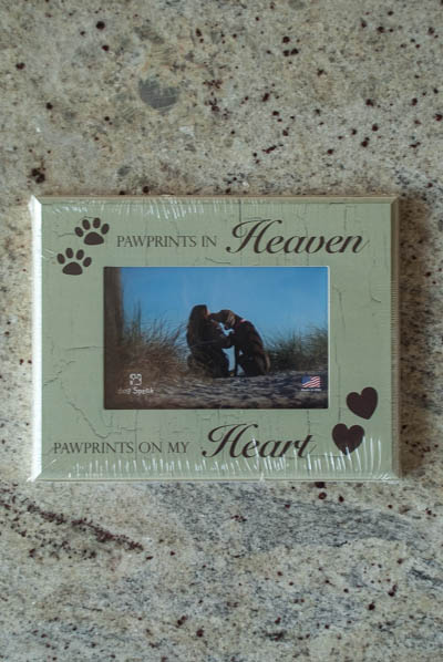 &quot;Paw Prints In Heaven..&quot; <br /> Dog Frame