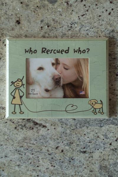 &quot;Who Rescued Who&quot;<br /> Dog Frame