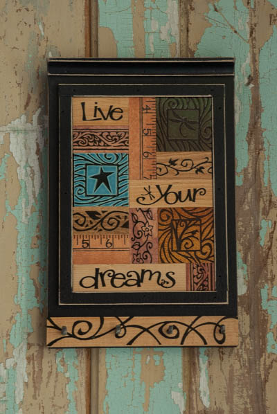 &quot;Live Dream&quot; <br /> Collage Key Holder