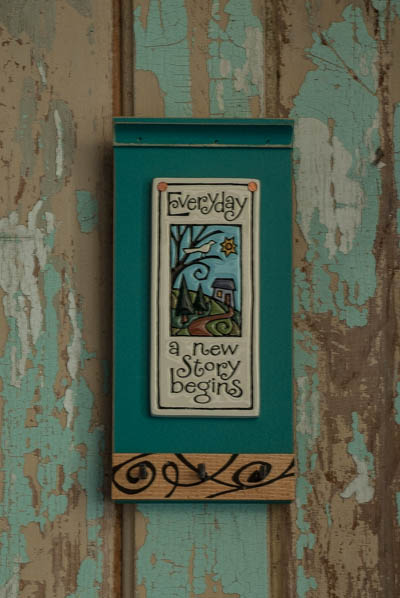 &quot;Everyday&quot;-Teal <br /> Wood Key Holder