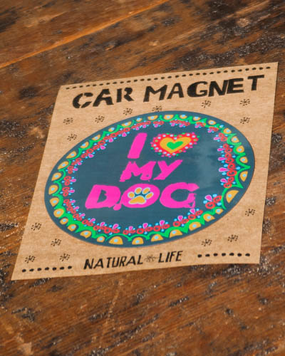 I Love My Dog <br /> Car Magnet