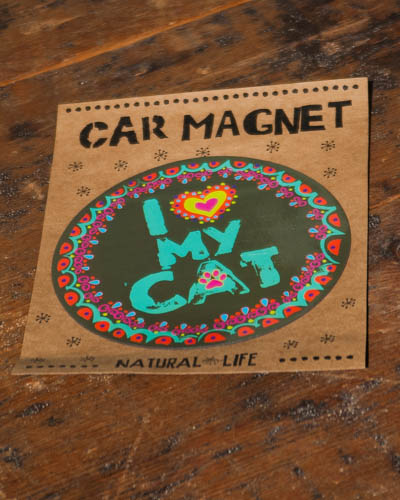 I Love My Cat <br /> Car Magnet