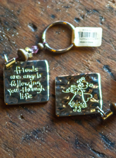 Friends are angels... <br /> Token Key Chain