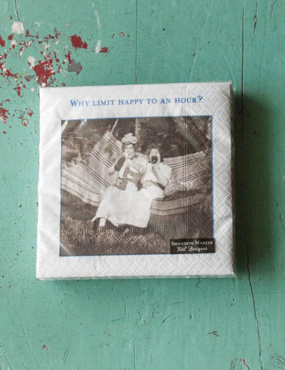 &quot;Why Limit...&quot; <br /> Shannon Martin Napkins