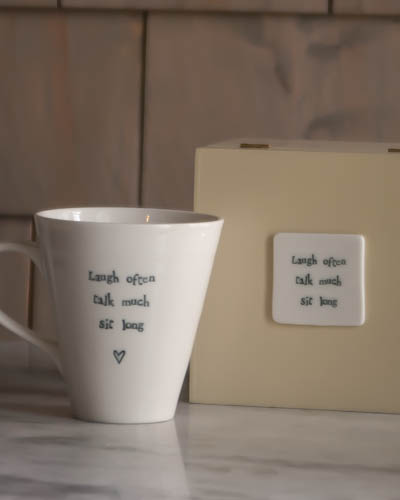 &quot;Laugh Often...&quot; <br /> Speciality Boxed Mug