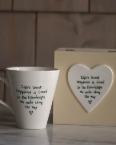 &quot;Life's Truest Happiness..&quot; <br /> Speciality Boxed Mug