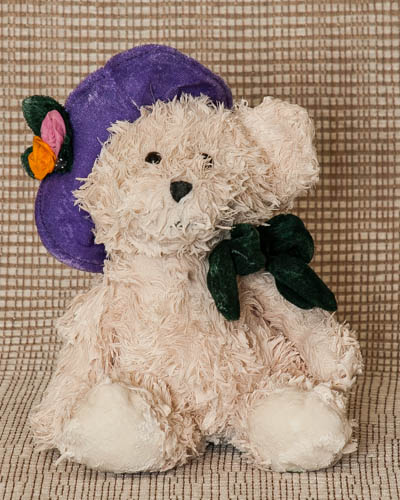 Purple Sunday Hat Bear