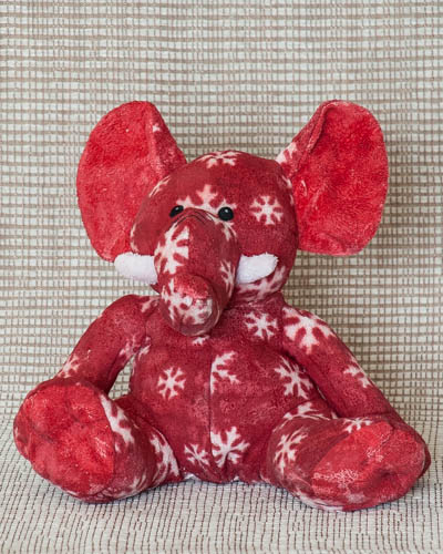Snowflake Red Elephant