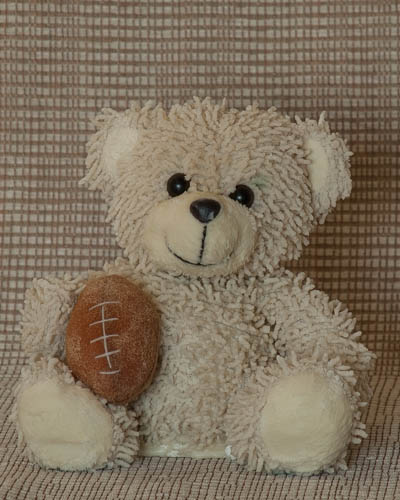 White Football Bear