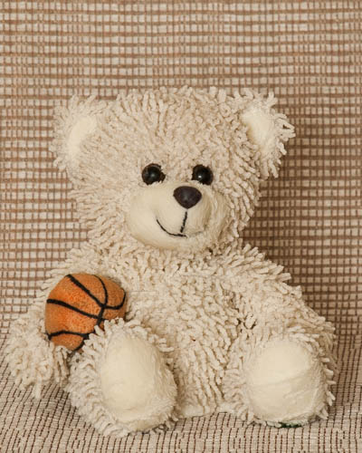 White Basketball Bear