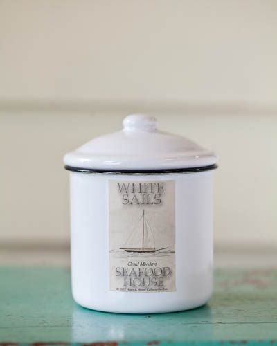 Cotton Fields <br />10 oz. Soy Enamelware Canister