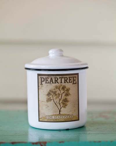 Iced Pear <br />10 oz. Soy Enamelware Canister