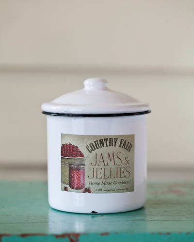 Strawberry Jam <br />10 oz. Soy Enamelware Canister