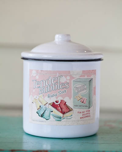 Baby Fresh <br />19 oz. Soy Enamelware Canister
