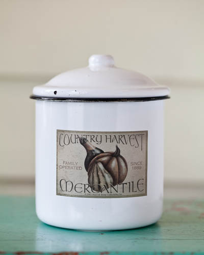 Spiced Apple <br />19 oz. Soy Enamelware Canister