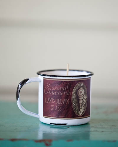 Cinnamon Red Hot <br />5 oz. Soy Enamelware Cup