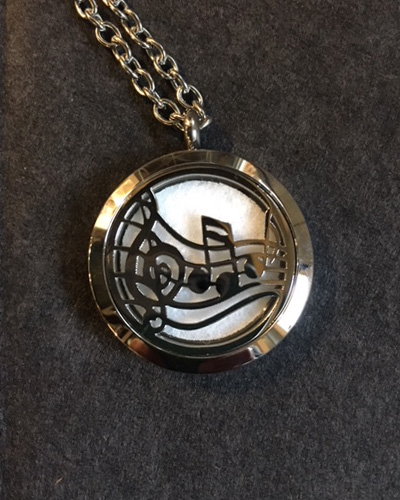 Aromatherapy Music Note Necklace